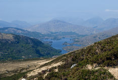 View on the hills on a sunny spring morning in the Ring of Kerry in Ireland Royalty Free Stock Photo