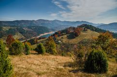 View of lake Zaovine on Tara mountain, Serbia royalty free stock image