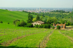View of the hills surrounding Bologna, Italy Royalty Free Stock Image