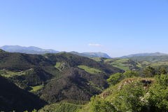 View from Hilltop above Basilica of St Ubaldo in Gubbio in Umbria Royalty Free Stock Images