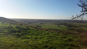 View from a hilltop north downs in Wye Kent Royalty Free Stock Photography