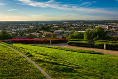 View from Hilltop Park, in Signal Hill. Long Beach, California stock image
