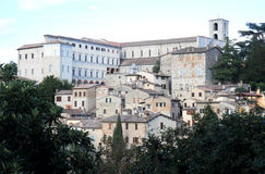 View at hilltop town Todi in Umbria, Italy Stock Image