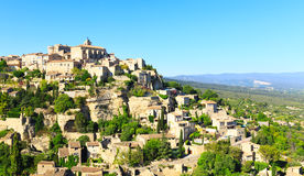 View of hilltop village Gordes. France Royalty Free Stock Photography