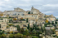 View of the hilltop village Gordes, Provence, France. View of the hilltop village Gordes in the Luberon Region of Provence, France Royalty Free Stock Images