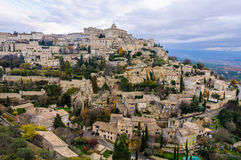 View of the hilltop village Gordes, Provence, France Royalty Free Stock Images