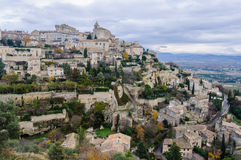 View of the hilltop village Gordes, Provence, France Stock Photography