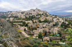 View of the hilltop village Gordes, Provence, France Royalty Free Stock Photos