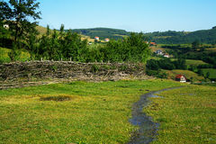 View of hilly landscape. View of stream and hilly landscape in Kosovo Stock Images
