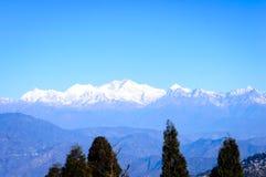 View of Himalaya, the Kanchenjunga mountain range, morning sunrise falling over the peak, from stock photos