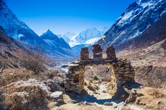 View on Himalaya mountains landscape Stock Photography