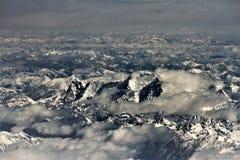 View of Himalaya. From sky view of Himalya . tibatian Himalaya and tibatian sky stock photos
