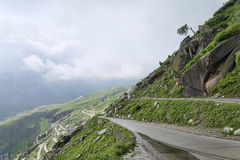 View of Himalayan mountain road royalty free stock photography