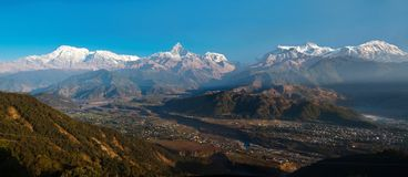 View of the Himalayan mountains Stock Photo