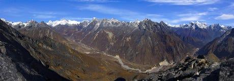 View of the Himalayan mountains royalty free stock photos