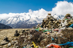 View of the Himalayan mountains. Royalty Free Stock Photo