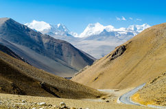 View of the Himalayan mountains. Royalty Free Stock Photos