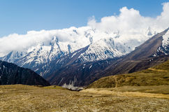 View of the Himalayan mountains Stock Images