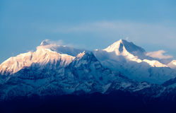 View of the himalayan peak Machhapuchhare, Pokhara, Nepal Stock Image
