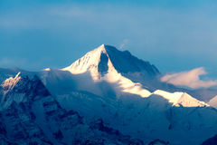 View of the himalayan peak Machhapuchhare, Pokhara, Nepal Royalty Free Stock Photo
