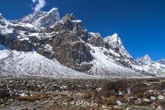 View of the Himalayas (Cholatse, Tabuche Peak) from Pheriche Stock Photo