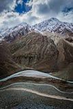 View of Himalayas, India. Spiti valley, river, road in Himalayas. Himachal Pradesh, India Royalty Free Stock Photography