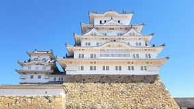 View of the Himeji castle, Hyogo royalty free stock image