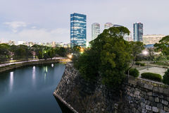 View from Himeji castle at night Royalty Free Stock Photo