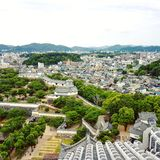 View from Himeji Castle stock photo