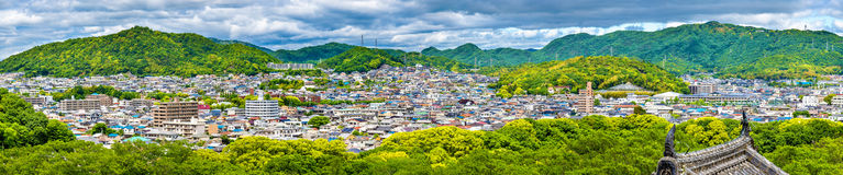 View of Himeji city from the castle - Japan Stock Images