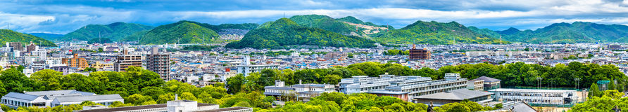View of Himeji city from the castle - Japan Stock Photos
