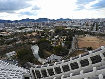 View of Himeji City from Himeji Castle, Japan Stock Photos