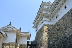 The view in Himeji-jo Castle in Japan in Hyogo prefecture. Royalty Free Stock Photography