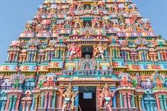 View of hindu temple tower at sarangapani temple, Tamilnadu, India - Dec 17, 2016 Royalty Free Stock Photos