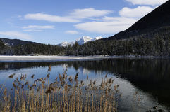 View of the Hintersee in winter. Stock Images