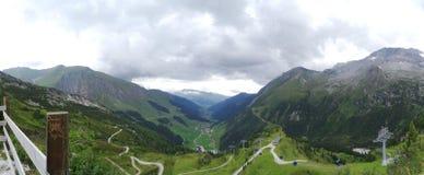 View from Hintertux, Tuxertal, Innsbruck, Austria. View from Sommerberg in Hintertux, Tuxertal, Innsbruck, Austria Stock Photos