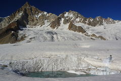 View from hispar. Nice vie from hispar glacier over the hispar pass Royalty Free Stock Photography
