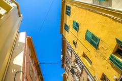 Historic architecture of Cannes on a sunny day royalty free stock image