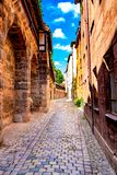 View on historic Architecture in Nuremberg, Germany. View on historic medieval Architecture in Nuremberg, Germany royalty free stock photos