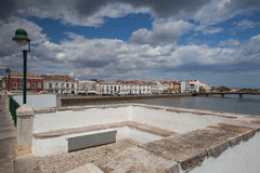 View from historic bridge in Tavira Royalty Free Stock Images