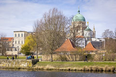 View of the historic building in downtown Potsdam Stock Photo