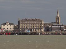 View of historic buildings on Harwich seafront Stock Photo