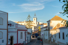View in historic center of Albufeira, Algarve, Portugal. Stock Images