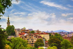 View of the historic center of Belgrade. Serbia on a sunny day Stock Images