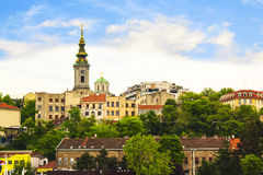 View of the historic center of Belgrade, Serbia. On a sunny day Stock Photography