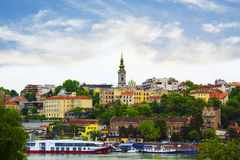 View of the historic center of Belgrade, Serbia. On a sunny day Royalty Free Stock Photos
