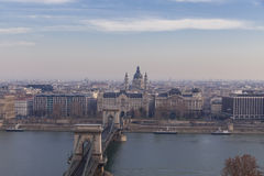 View of the historic center of Budapest Royalty Free Stock Photos