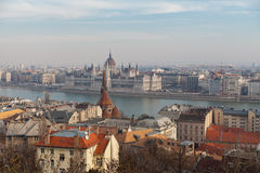 View of the historic center of Budapest Stock Photography