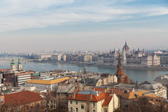 View of the historic center of Budapest Stock Image