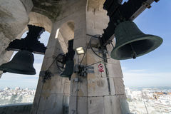 View of the historic center of Cadiz from the bell tower take in. Cadiz Andalusia Spain Stock Image
